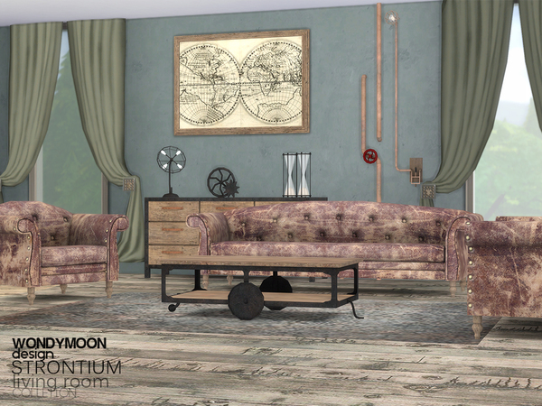 Strontium Living Room by wondymoon at TSR image 306 Sims 4 Updates