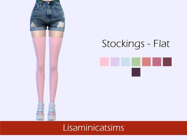 LMCS Stockings Flat by Lisaminicatsims at TSR image 3102 Sims 4 Updates