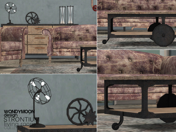 Strontium Living Room by wondymoon at TSR image 3110 Sims 4 Updates