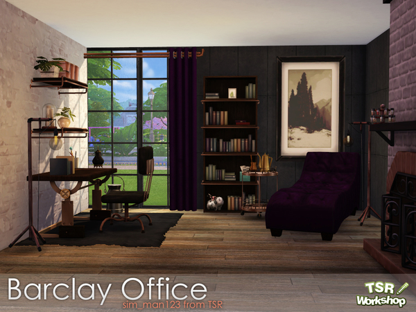 Barclay Office by sim man123 at TSR image 3111 Sims 4 Updates