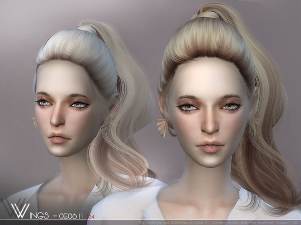 Hair OE0611 by wingssims at TSR image 3113 Sims 4 Updates