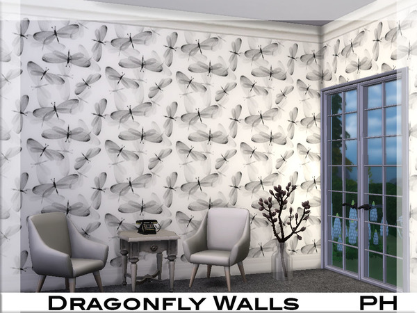 Dragonfly Walls by Pinkfizzzzz at TSR image 3115 Sims 4 Updates