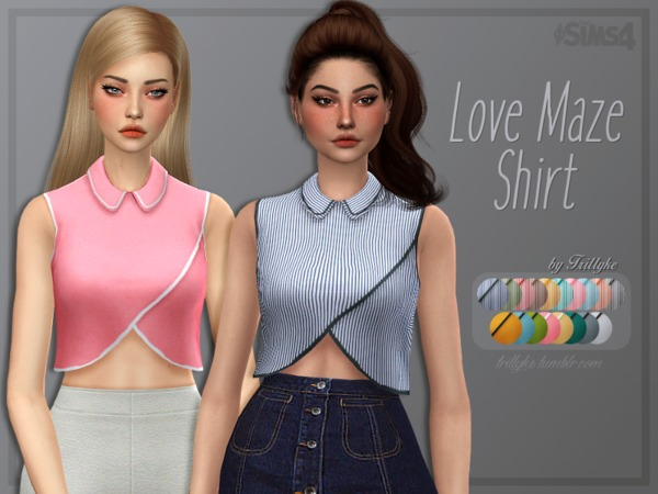 Sims 4 Love Maze Shirt by Trillyke at TSR