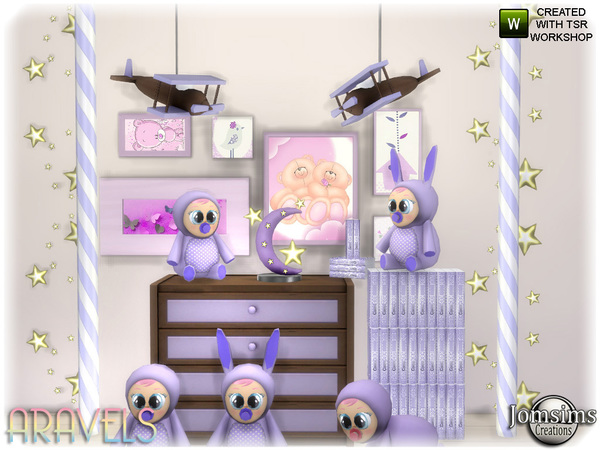 Aravels kids deco set by jomsims at TSR image 3123 Sims 4 Updates