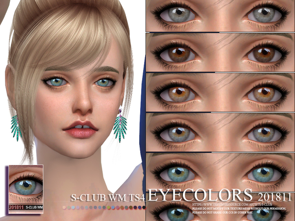Eyecolors 201811 by S Club WM at TSR image 321 Sims 4 Updates