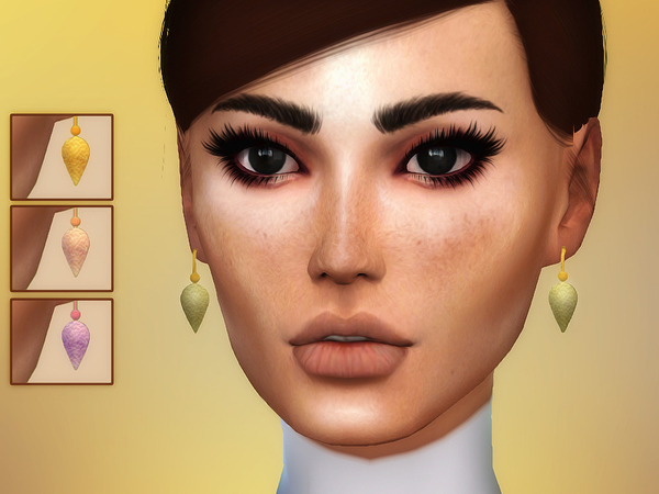 Brooklyn Earrings by Sharareh at TSR image 3210 Sims 4 Updates