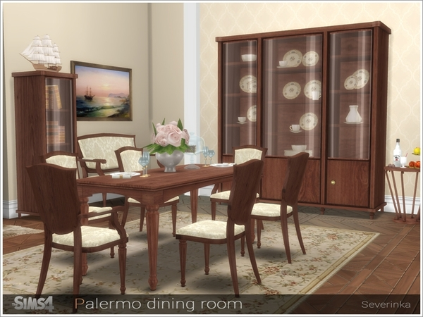 Palermo dining room by Severinka at TSR image 3218 Sims 4 Updates