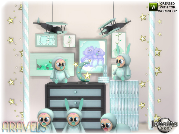 Aravels kids deco set by jomsims at TSR image 3221 Sims 4 Updates