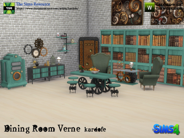 Sims 4 Dining Room Verne by kardofe at TSR