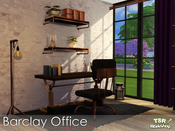 Barclay Office by sim man123 at TSR image 328 Sims 4 Updates