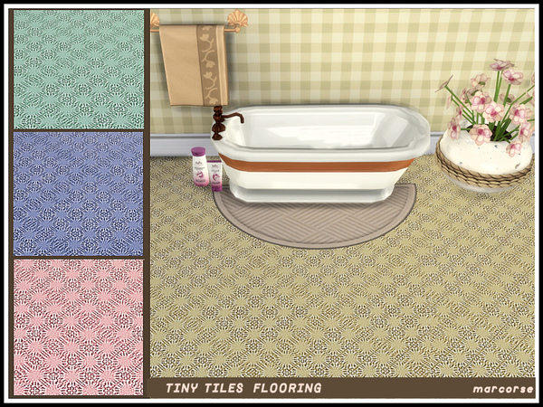 Tiny Tiles Flooring by marcorse at TSR image 3310 Sims 4 Updates