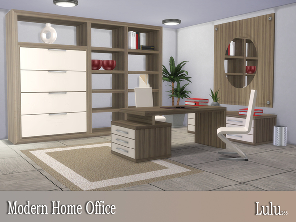 Modern Home Office by Lulu265 at TSR image 3316 Sims 4 Updates