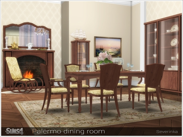 Palermo dining room by Severinka at TSR image 3317 Sims 4 Updates