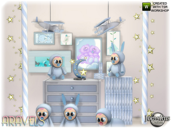 Aravels kids deco set by jomsims at TSR image 3320 Sims 4 Updates
