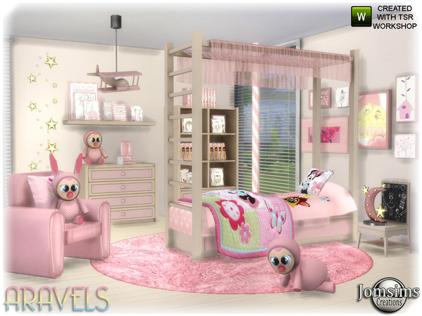 Aravels kids bedroom by jomsims at TSR image 3323 Sims 4 Updates