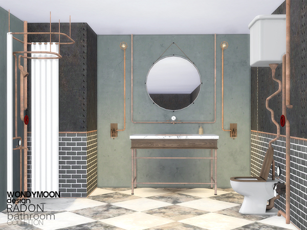 Radon Bathroom by wondymoon at TSR image 334 Sims 4 Updates