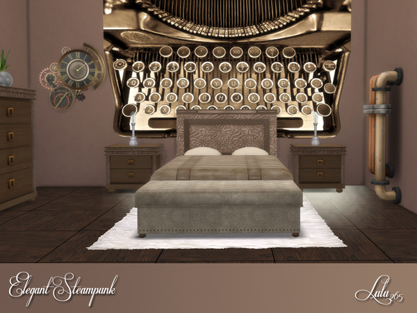 Elegant Steampunk Bedroom by Lulu265 at TSR image 336 Sims 4 Updates