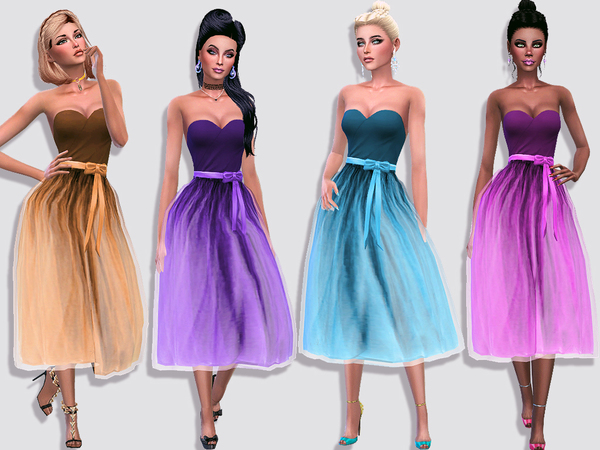 Sims 4 The tutu fluffy tulle dress by Simalicious at TSR