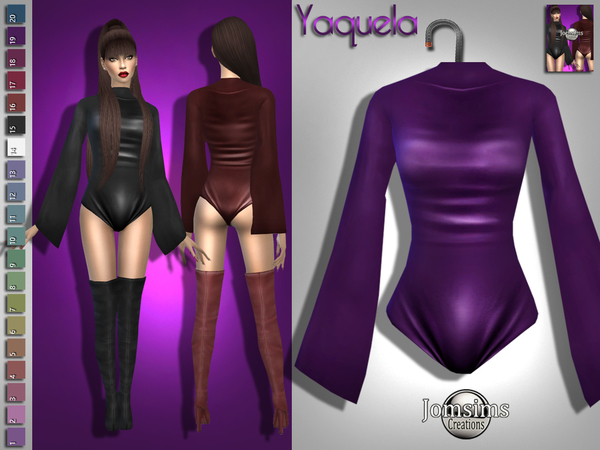 Yaquela bodysuit by jomsims at TSR image 3414 Sims 4 Updates