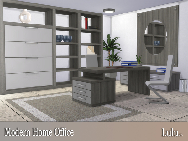 Modern Home Office by Lulu265 at TSR image 3415 Sims 4 Updates