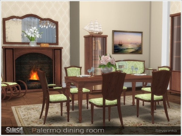 Palermo dining room by Severinka at TSR image 3416 Sims 4 Updates