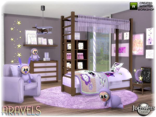 Aravels kids bedroom by jomsims at TSR image 3422 Sims 4 Updates