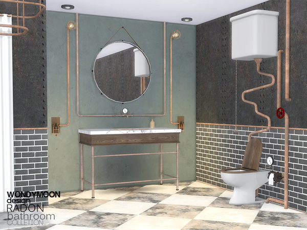 Radon Bathroom by wondymoon at TSR image 344 Sims 4 Updates