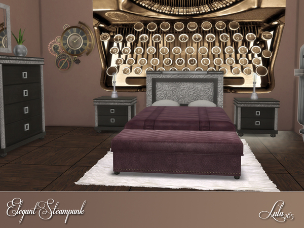 Elegant Steampunk Bedroom by Lulu265 at TSR image 346 Sims 4 Updates