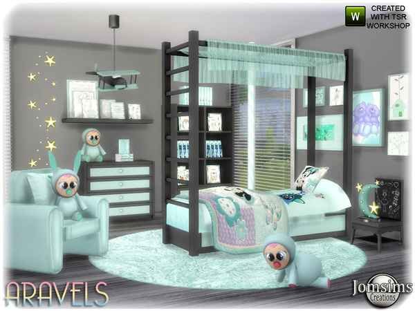 Aravels kids bedroom by jomsims at TSR image 3522 Sims 4 Updates
