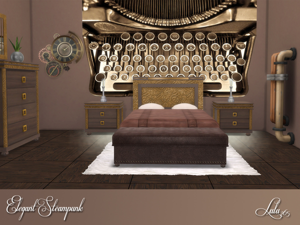 Elegant Steampunk Bedroom by Lulu265 at TSR image 356 Sims 4 Updates