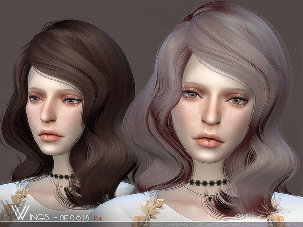 Sims 4 Hair OE0618 by wingssims at TSR