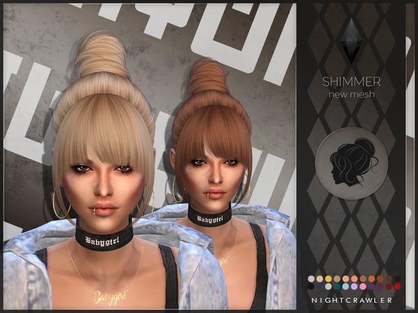 Sims 4 Shimmer hair by Nightcrawler Sims at TSR