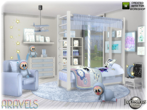 Aravels kids bedroom by jomsims at TSR image 3621 Sims 4 Updates