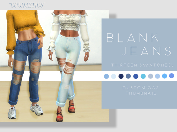 Sims 4 Blank jeans by cosimetics at TSR