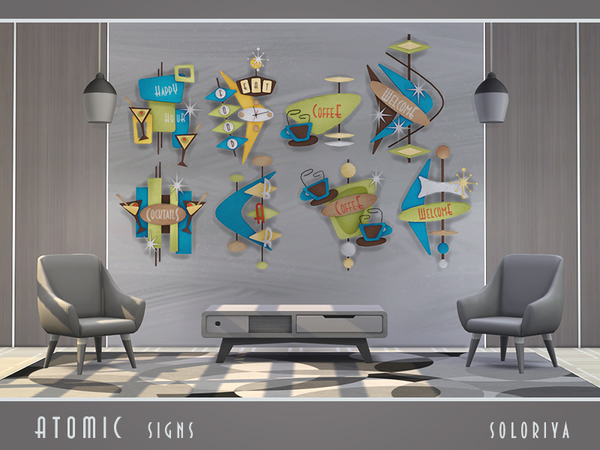 Atomic Signs by soloriya at TSR image 3710 Sims 4 Updates