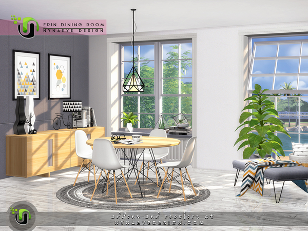 Erin Dining Room by NynaeveDesign at TSR image 38 Sims 4 Updates