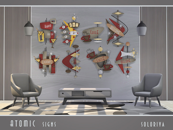 Atomic Signs by soloriya at TSR image 3810 Sims 4 Updates