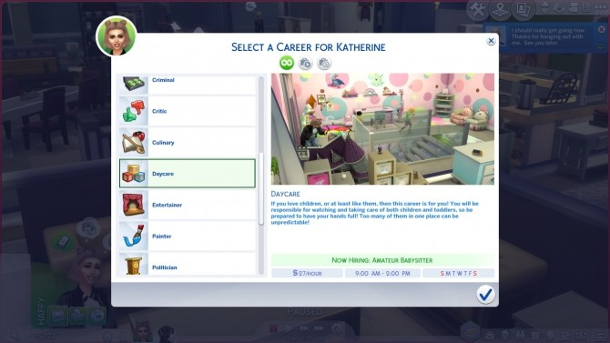 Sims 4 Daycare Career TS3 to TS4 by Twilightsims at Mod The Sims