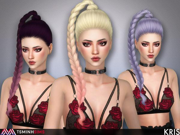 Kris Hair 61 by TsminhSims at TSR image 384 Sims 4 Updates