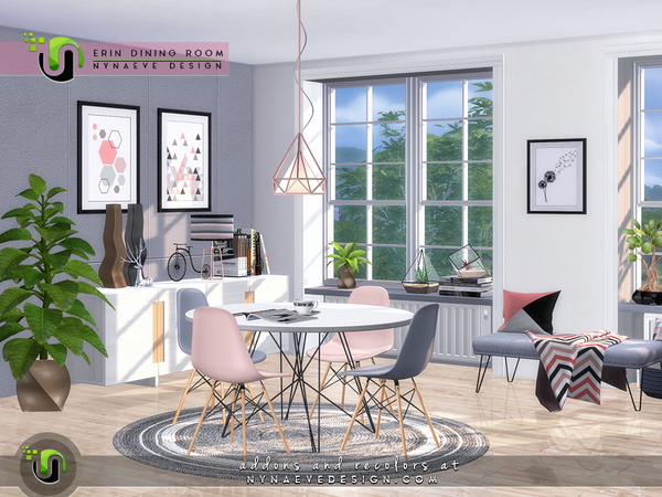 Erin Dining Room by NynaeveDesign at TSR image 39 Sims 4 Updates