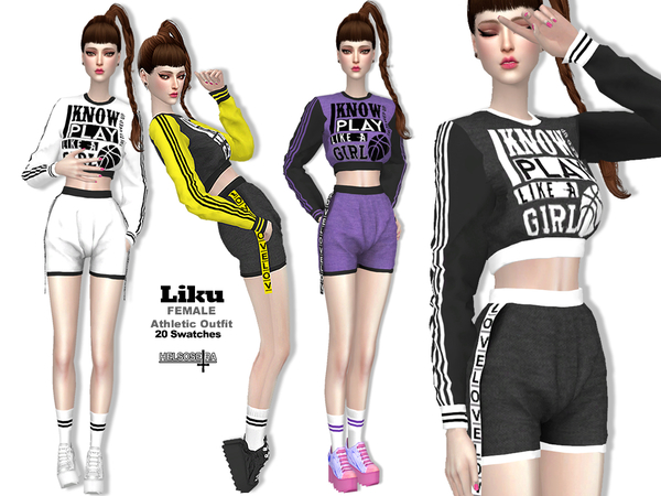 LIKU Sport Outfit by Helsoseira at TSR image 3910 Sims 4 Updates