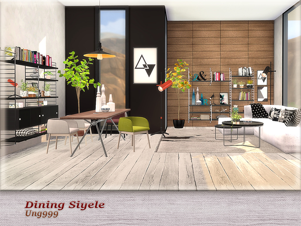 Dining Siyele by ung999 at TSR image 3921 Sims 4 Updates
