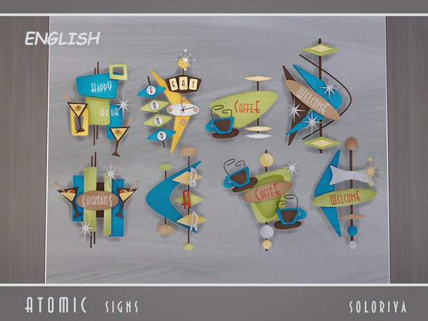 Atomic Signs by soloriya at TSR image 399 Sims 4 Updates