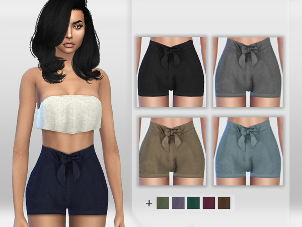 Tie Front Shorts by Puresim at TSR image 4011 Sims 4 Updates