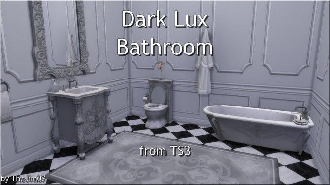 Sims 4 Dark Lux Bathroom from TS3 by TheJim07 at Mod The Sims