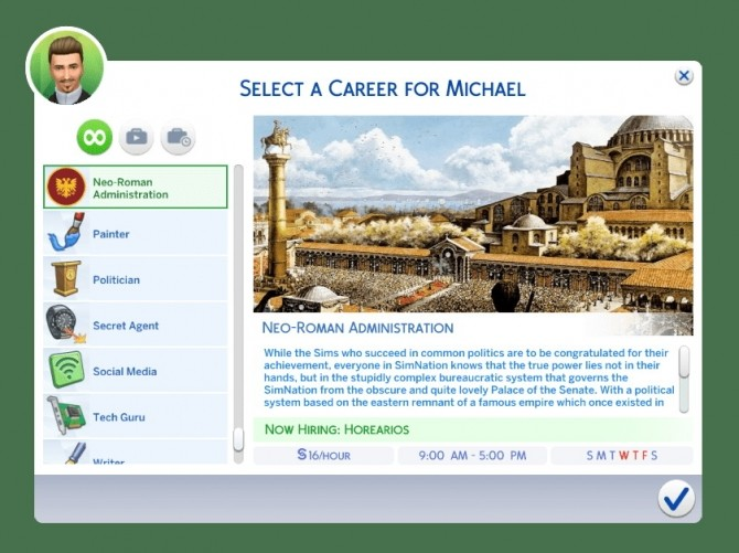 Sims 4 Neo Roman/Byzantine Administration Career by andrefortes at Mod The Sims