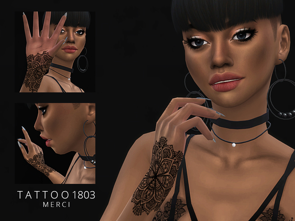 Tattoo 1803 by Merci at TSR image 410 Sims 4 Updates
