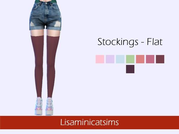LMCS Stockings Flat by Lisaminicatsims at TSR image 4100 Sims 4 Updates