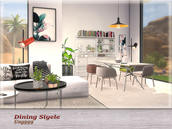 Dining Siyele by ung999 at TSR image 4124 Sims 4 Updates