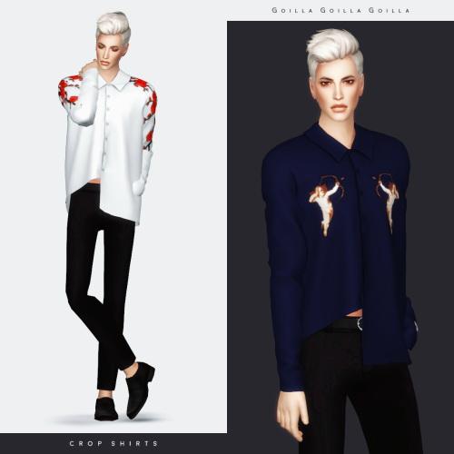 Sims 4 Suede Jacket & Crop Shirts at Gorilla